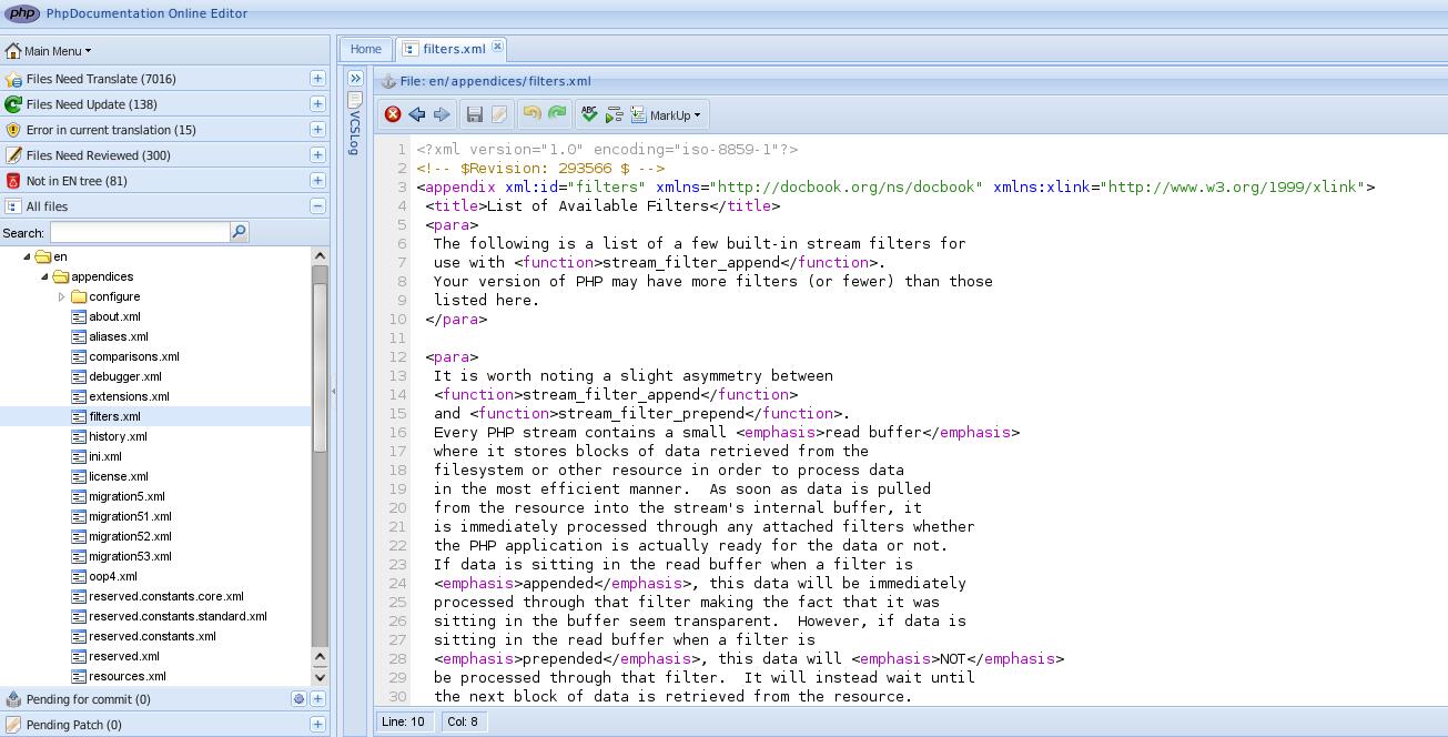 PHP: doc:editor